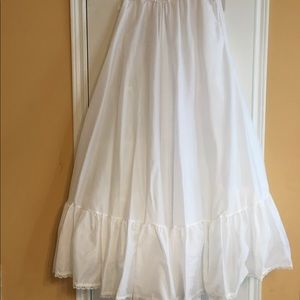 Full Length White Petticoat - One Size Fits All